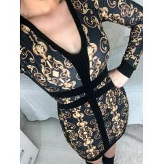 Vestido Detalhes Estampado