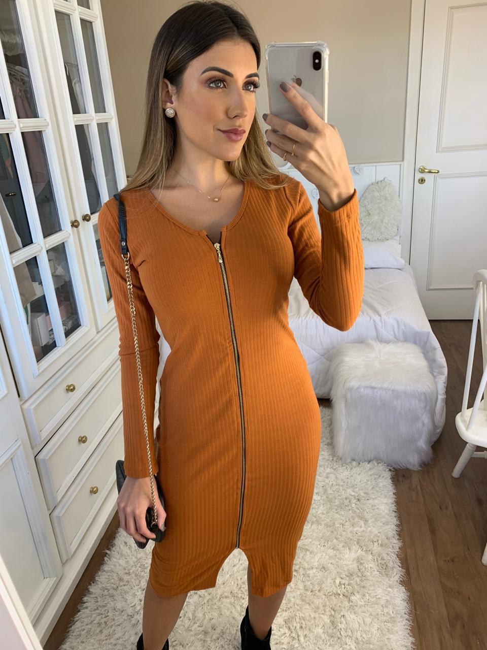 Vestido Ribana Zipper